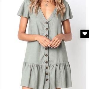 Betsy Buttons Light Mini Dress!